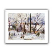 ArtWall Garden Under Snow Unwrapped Canvas Art By Paul Gauguin, 18 x 24