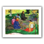 ArtWall Les Parau Parau, The Gossippers Unwrapped Canvas Art By Paul Gauguin, 18 x 24
