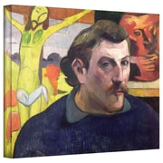 ArtWall Self Portrait with Yellow Christ Gallery Wrapped Canvas Art By Paul Gauguin, 26 x 32
