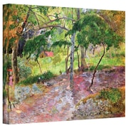 ArtWall Tropical Landscape, Minique Gallery Wrapped Canvas Art By Paul Gauguin, 18 x 24
