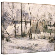 "ArtWall ""Winter Landscape"" Gallery Wrapped Canvas Art By Paul Gauguin, 18"" x 24"""