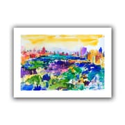 """ArtWall """"Central Park New York 2011"""" Unwrapped Canvas Art By Peter Graham, 32"""" x 48"""""""