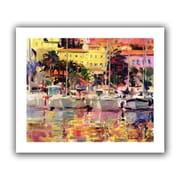 ArtWall Golden Harbour Vista Unwrapped Flat Canvas Art By Peter Graham, 20 x 24