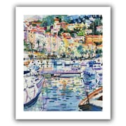 ArtWall Riviera Yachts Unwrapped Flat Canvas Art By Peter Graham, 18 x 14