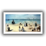 ArtWall Beach Scene Unwrapped Canvas Art By Edouard Manet, 24 x 48