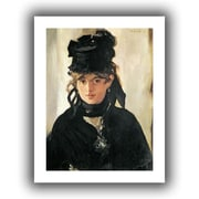 ArtWall Berthe Morisot with a Bouquet of Violets Unwrapped Canvas Art By Edouard Manet, 18 x 14