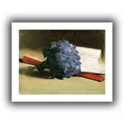 ArtWall Bouquet of Violets Unwrapped Canvas Art By Edouard Manet, 18 x 24