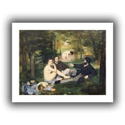ArtWall Dejeuner Sur L'Herbe Unwrapped Canvas Art By Edouard Manet, 18 x 24