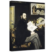 ArtWall Portrait of Emile Zola Gallery Wrapped Canvas Art By Edouard Manet, 48 x 36