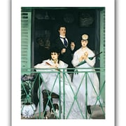 ArtWall The Balcony Unwrapped Canvas Art By Edouard Manet, 18 x 14