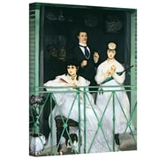 "ArtWall ""The Balcony"" Gallery Wrapped Canvas Art By Edouard Manet, 18"" x 14"""