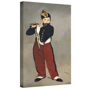"ArtWall ""The Fifer"" Gallery Wrapped Canvas Art By Edouard Manet, 10"" x 18"""