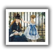 ArtWall The Railway Unwrapped Canvas Art By Edouard Manet, 20 x 24