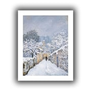 ArtWall Snow at Louveciennes Flat Unwrapped Canvas Art By Alfred Sisley, 32 x 24