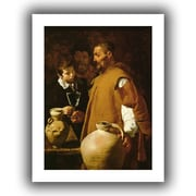 ArtWall Waterseller of Seville Flat Unwrapped Canvas Art By Diego Velazquez, 24 x 18