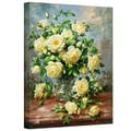 ArtWall in.Princess Diana Roses in a Cut...in. Gallery Wrapped Canvas Arts By Albert Williams