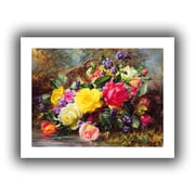 "ArtWall ""Roses from a Victorian Garden Colorful"" Unwrapped Canvas Arts By Albert Williams"