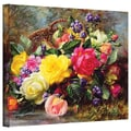 ArtWall in.Roses from a Victorian Colorful..in. Gallery Wrapped Canvas Arts By Albert Williams