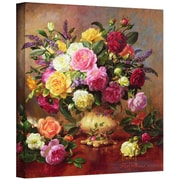 """ArtWall """"Roses from a Victorian Garden"""" Gallery Wrapped Canvas Art By Albert Williams, 14"""" x 14"""""""