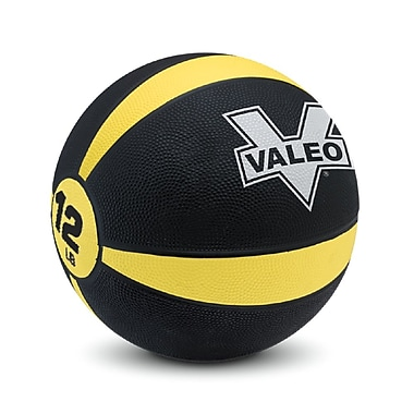 Valeo® Medicine Ball, 12 lbs., Yellow