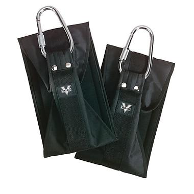 Valeo® Ab Straps, Black, 2/Pack