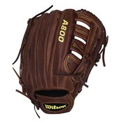 Wilson® A800 Game Ready SoftFit™ Right Hand Thrower Brown Baseball Gaming Glove, 12 1/2