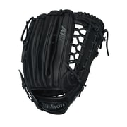 Wilson® A1K OF1225 Right Hand Thrower Jet Black Baseball Gaming Glove, 12 1/4