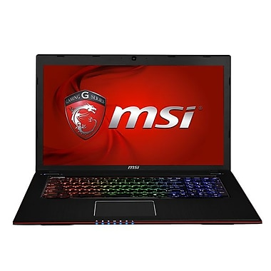 msi GE Apache Pro 17.3in. Laptop, Intel i7-4700HQ 3.2 GHz, Brush Aluminum Black