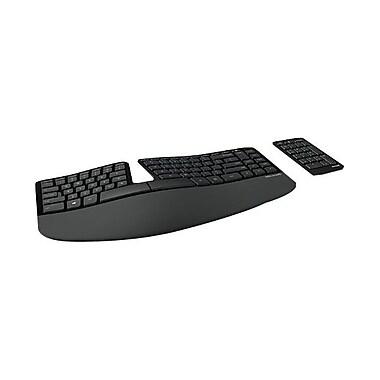Microsoft Sculpt Ergonomic Keyboard for Business, Erognomic USB wireless keyboard, Black (5KV-00001)