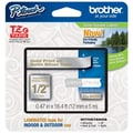 Brother® 1/4in. Satin Label Tape, Satin Silver/Gold