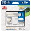 "Brother® 1/2"" Satin Label Tape, Satin Silver/Gold"