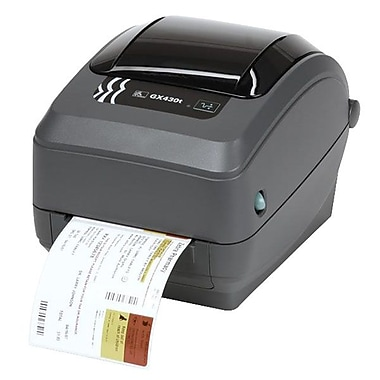 Zebra® GX430t Monochrome Thermal Transfer Label Printer, 300 dpi