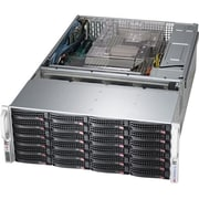Supermicro® SuperServer 768 GB Maximum RAM Xeon 4U Rack-Mount Barebone System, Black