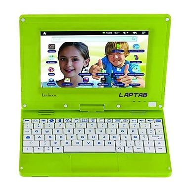 Lexibook Laptab MFC140EN, 7in. Tablet, 4 GB, Android Ice Cream Sandwich, Wi-Fi, Green