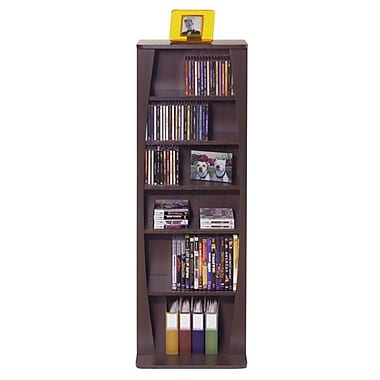 Atlantic® Canoe Multimedia Cabinet For CDs or DVDs, Espresso