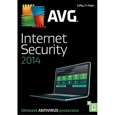 AVG® 1 Year/3 User Bilingual Bilingual The Source Internet Security 2014 Software