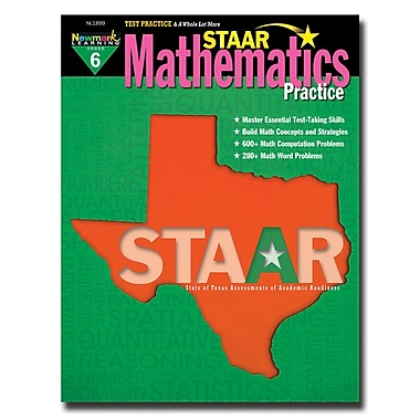 Staar Mathematics Practice by Newmark Learning Grade 6