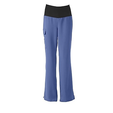 Medline Ocean ave Women Large Yoga Scrub Pants, Ceil Blue (5560CBLL)