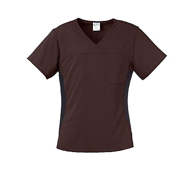 Michigan AVE.™ Yoga Scrub Top, Chocolate, Medium