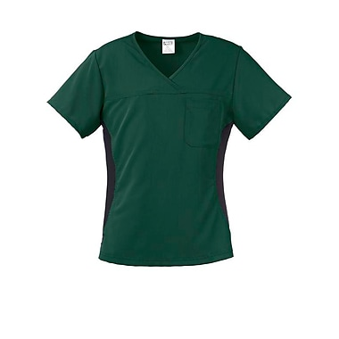 Michigan AVE.™ Yoga Scrub Top, Hunter Green, Large