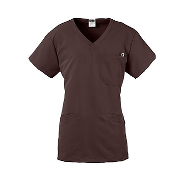Berkeley AVE.™ Ladies Scrub Top With Welt Pockets, Chocolate, 2XL