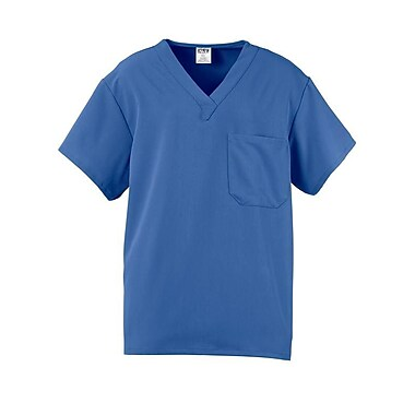 Fifth AVE.™ Unisex Traditional Scrub Top With One Pocket, Ceil Blue, XL