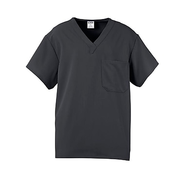 Fifth AVE.™ Unisex Scrub Top, Charcoal, XS