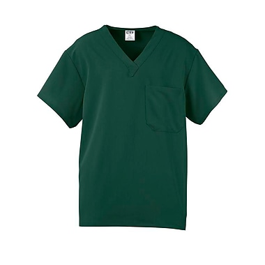 Fifth AVE.™ Unisex Scrub Top, Hunter Green, Large