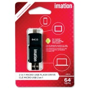 Imation 64GB 2-in-1 Micro USB Flash Drive
