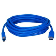 QVS® 10' USB 3.0 Type A Male To B Male Cable, Blue