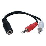"""QVS® 6"""" 3.5 mm Mini-Stereo Female/Male Speaker Adapter"""