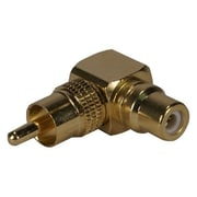 QVS® RCA Male/Female 90 Degree Adapter