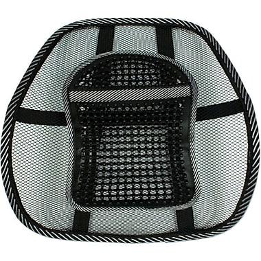QVS® LBP-1B Premium Ergonomic Lumbar Back Support With Large Massage Pad, Black/Gray