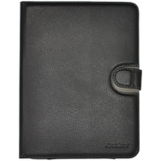 "Gear Head UNV2000BLK-8 Black Leather Port Folio Case for 8"" Universal Tablet"